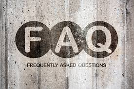 FAQ wood sign